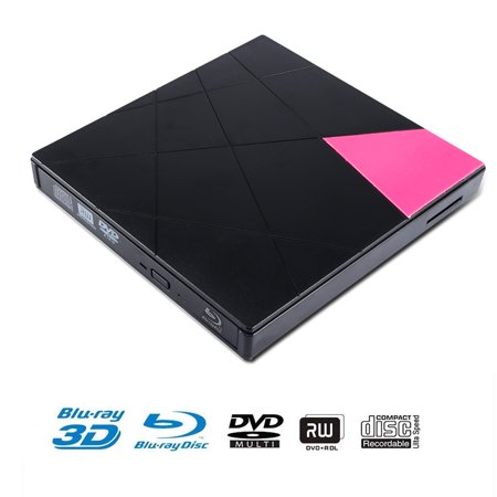 External CD DVD Drive,USB 3.0 Slim Portable External CD DVD Rewriter Burner Writer,High Speed Data Transfer USB Optical Drives Player for PC Desktop/Laptop/Windows/Linux/Mac OS