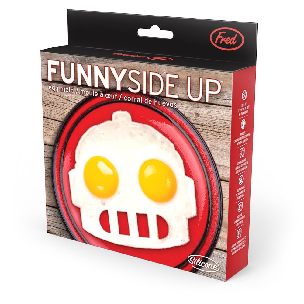 Funny Side Up Robot Breakfast Eggs & Bacon Corral