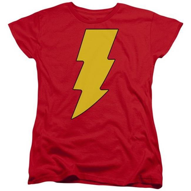 Dc-Shazam Logo - Short Sleeve Womens Tee - Red, Extra Large