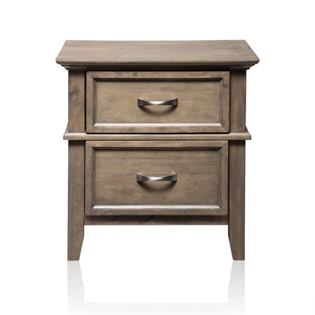 Furniture of America Ackerson 2 Drawer Nightstand in Weathered (Japanese Style Houses For Sale In America)
