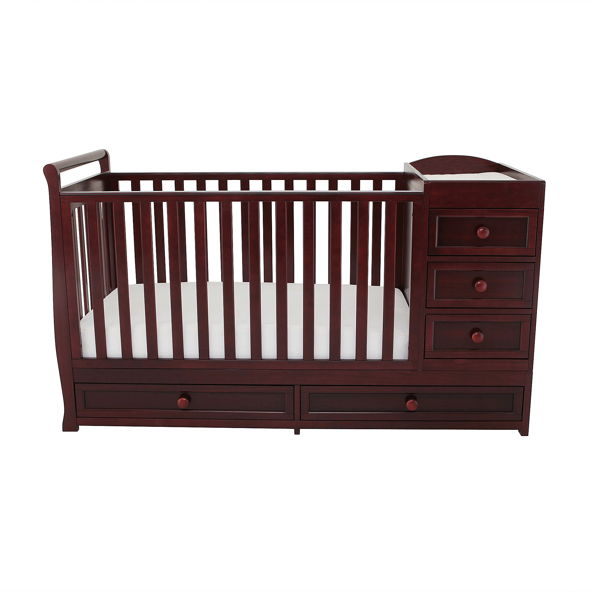 AFG Baby Furniture Daphne 3-in-1 Crib & Changer Combo Cherry