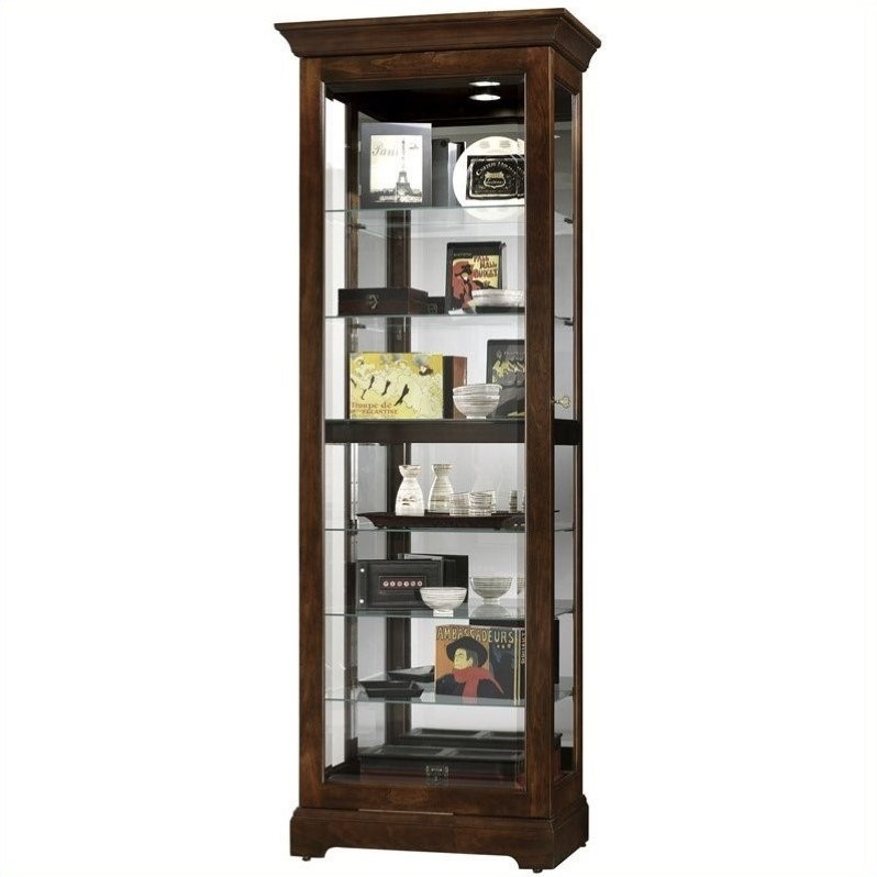 Howard Miller Cherry Bordeaux Martindale Slide Curio Cabinet by Howard Miller