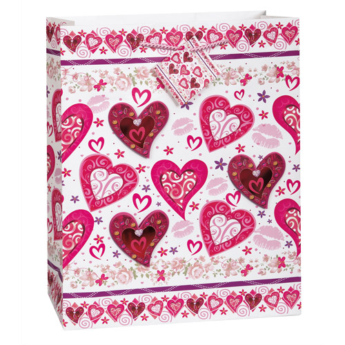 Large Lots of Heart Valentine Gift Bag
