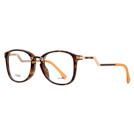 4b7a69ad3fc Fendi FF 0038 ZCZ Havana Gold Women s Round Eyeglasses - Walmart.com