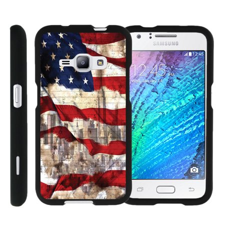 Design Rubberized Hard Case (Miniturtle® [Samsung Galaxy J1 J120 Case (2016), Samsung Amp 2 Case, Samsung Express 3 Black Case][Snap Shell] 2 Piece Design Case, Perfect Fit Hard Rubberized Protector - New York USA)