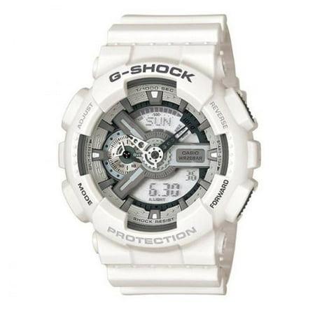 6dfc1a3eb Casio - Casio Men's 'G-Shock' White Hybrid Chronograph Watch ...