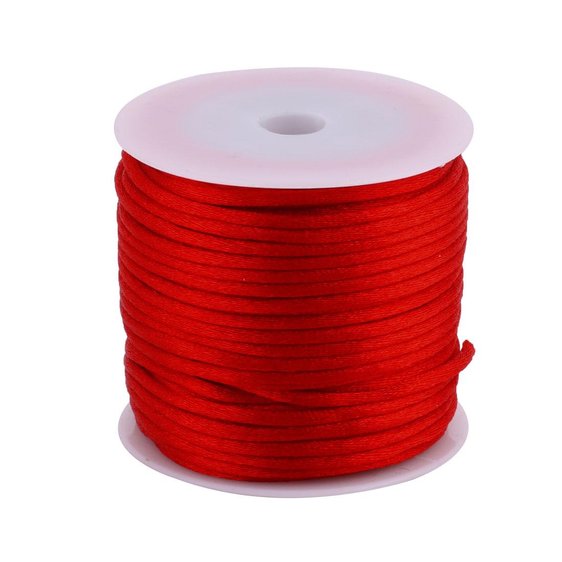 Lady Nylon Handcraft DIY Necklace Bracelet Beading Cord Red 2.5mm Dia 29.5 Yards