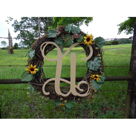 Wooden Monogram Vine Letter (U) Unfinished Craft Letter, Paintable DIY](Letter U Craft)