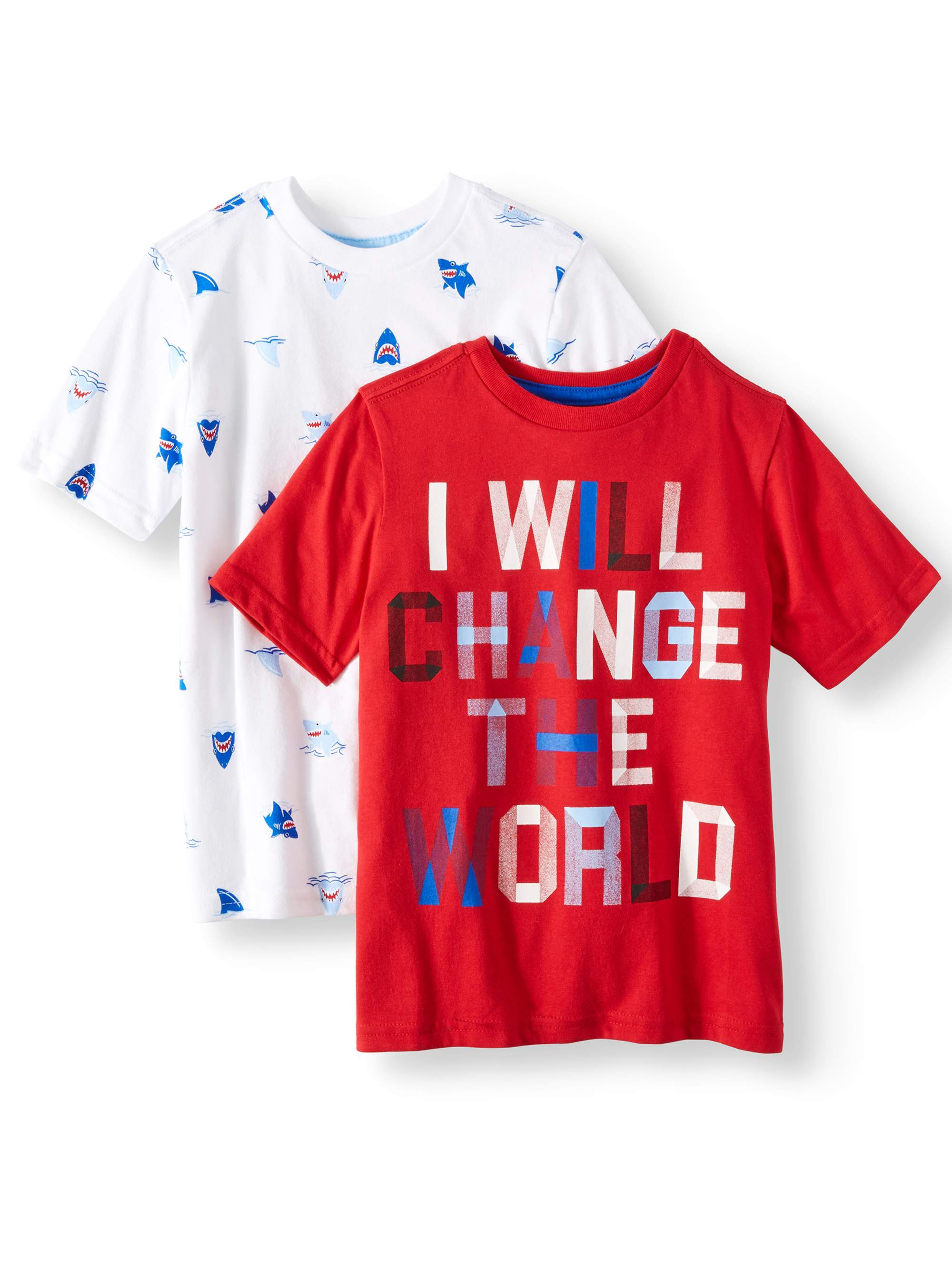 Graphic T-Shirts, 2-Piece Multi-Pack Set (Little Boys & Big Boys)