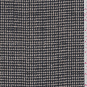 Taupe Houndstooth Suiting Fabric Sold By The Yard