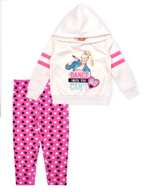 Jojo Siwa Graphic Hoodie and Printed Legging, 2-Piece Outfit Set (Little Girls)