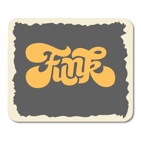 SIDONKU Soul Funk Label Sign Custom Seventies Lettering Graphic Music Party Mousepad Mouse Pad Mouse Mat 9x10 inch