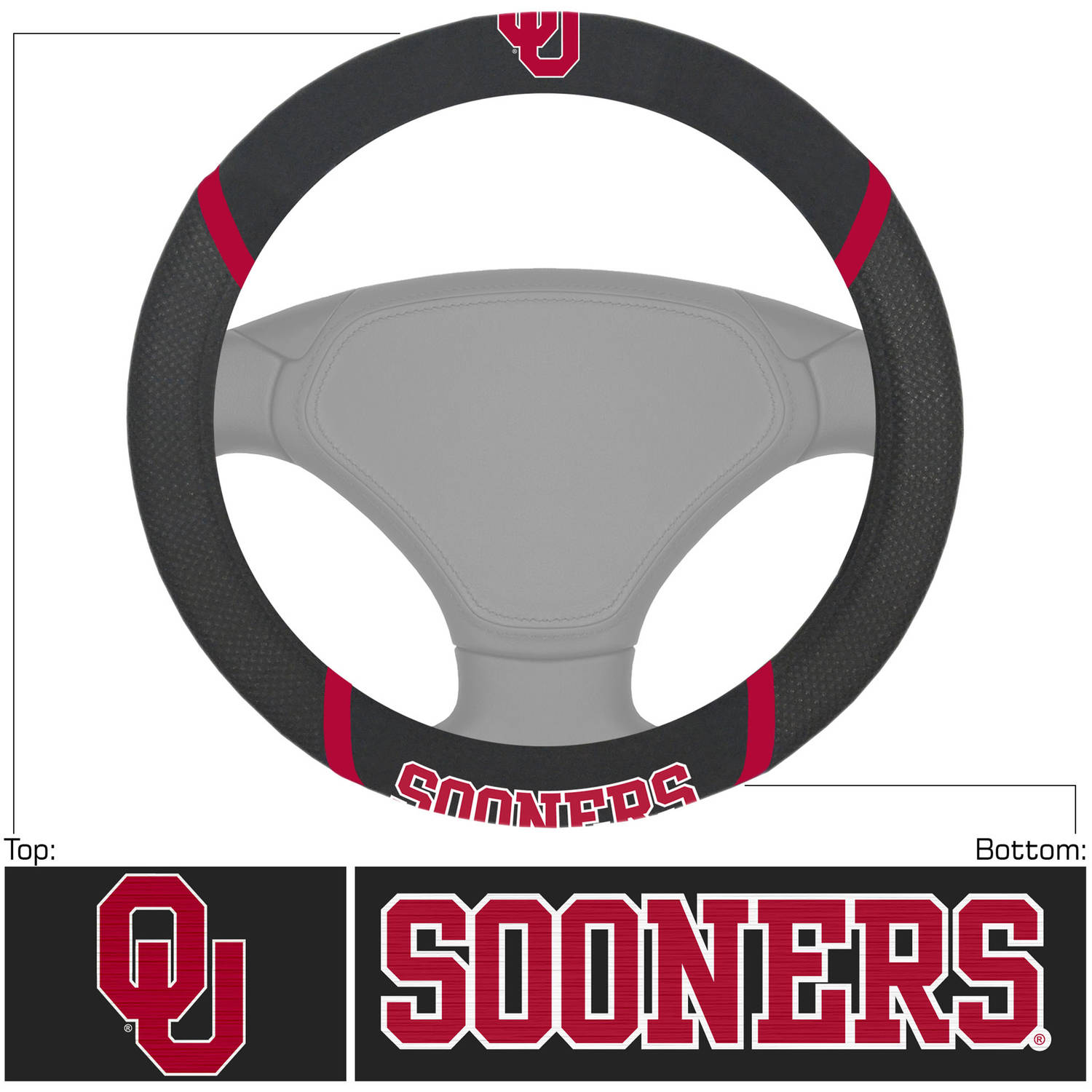 University of Oklahoma Steering Wheel Cover