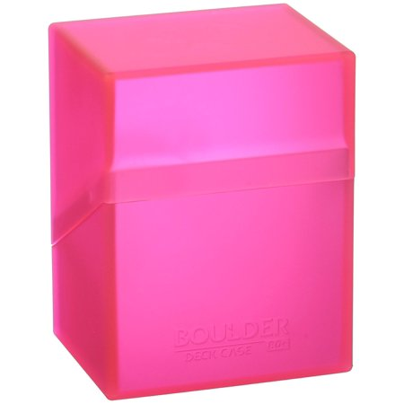 Ultimate Guard Boulder Deck Case 80+ Card Game, Rhodonite Pink, Small ()
