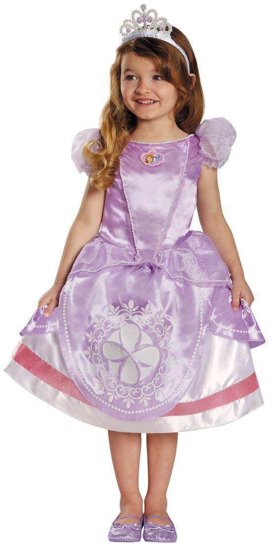 disney sofia the first deluxe girls toddler halloween costume walmartcom