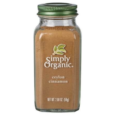 Simply Organic Ceylon Cinnamon Ground Certified Organic 2.08 oz. bottle Honey Cinnamon Powder