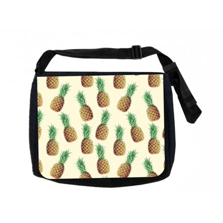 Pineapple Purse (Pineapples Black School Shoulder Messenger)