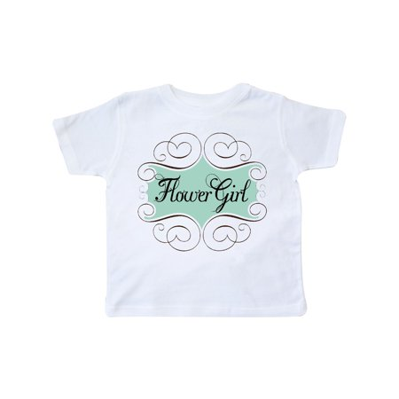 - Flower Girl Aqua Wedding Toddler T-Shirt