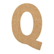 On the Surface Burlap Letter Q, 1 Each