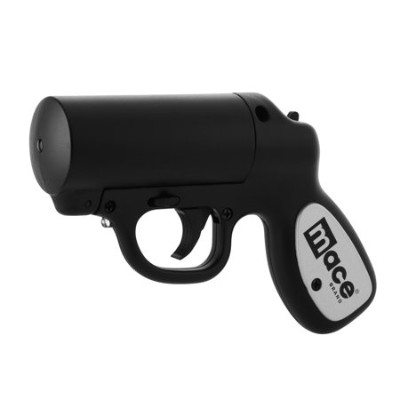 Mace Brand Pepper Gun Pepper Spray, Black with Strobe
