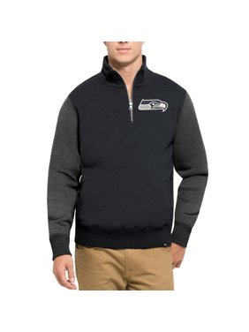 Seattle Seahawks '47 Triple Coverage Quarter-Zip Sweatshirt - College Navy