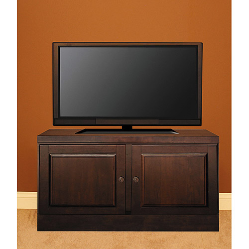 "48"" Console with Transitional Handles & Raised Panel Doors, Mocha"