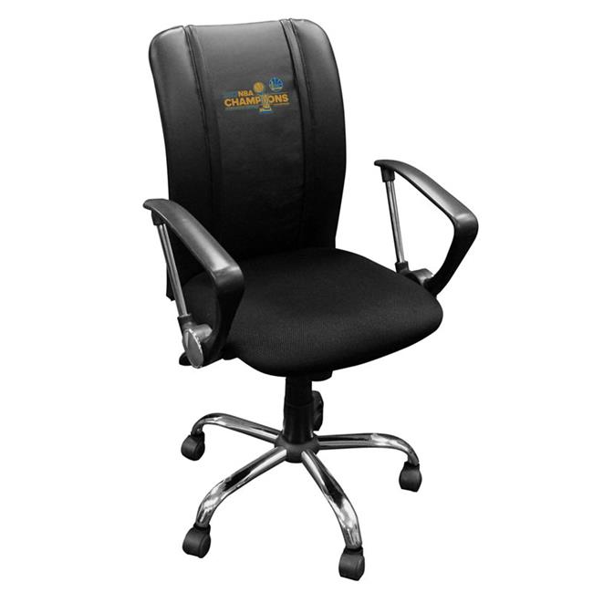 Dreamseat XZOCCURVE-PSNBA30083 Golden State Warriors NBA Curve Task Chair with 2017 Champions Logo Panel - image 1 de 1