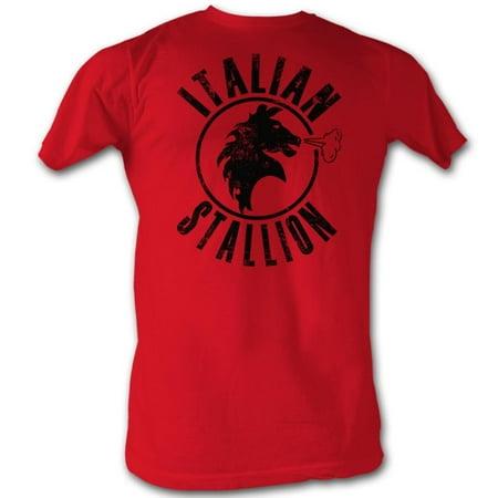 Rocky Men's  Italian Stallion T-shirt Red