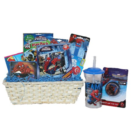 Ultimate Super Hero Gift Baskets For Kids, Fun and Games Ideal Get Well or Birthday Gift Baskets for Boys 3 to 8 Years