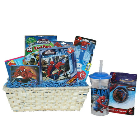 Ultimate Super Hero Gift Baskets For Kids, Fun and Games Ideal Get Well or Birthday Gift Baskets for Boys 3 to 8 Years Old