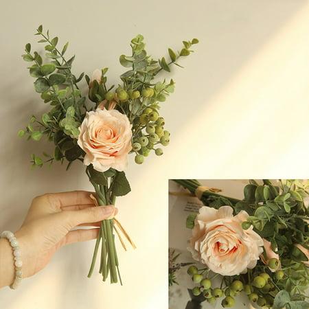 Range Rose Hydrangea Flowers Bouquet Bunch Home Wedding Party Gift Deco ()