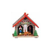 Black Forest Chalet Weather house with Thermometer