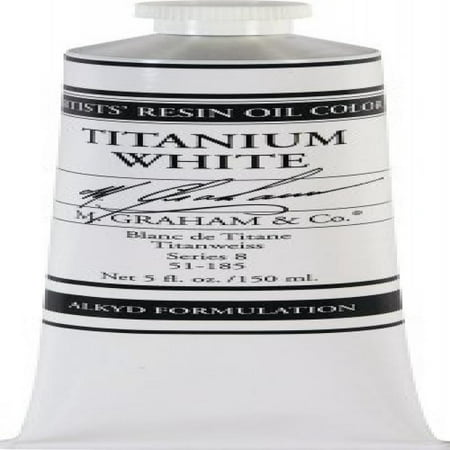 M. Graham Artist Oil Paint Titanium White Rapid Dry 5oz