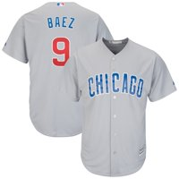 Javier Baez Chicago Cubs Majestic Away Cool Base Player Replica Jersey - Gray