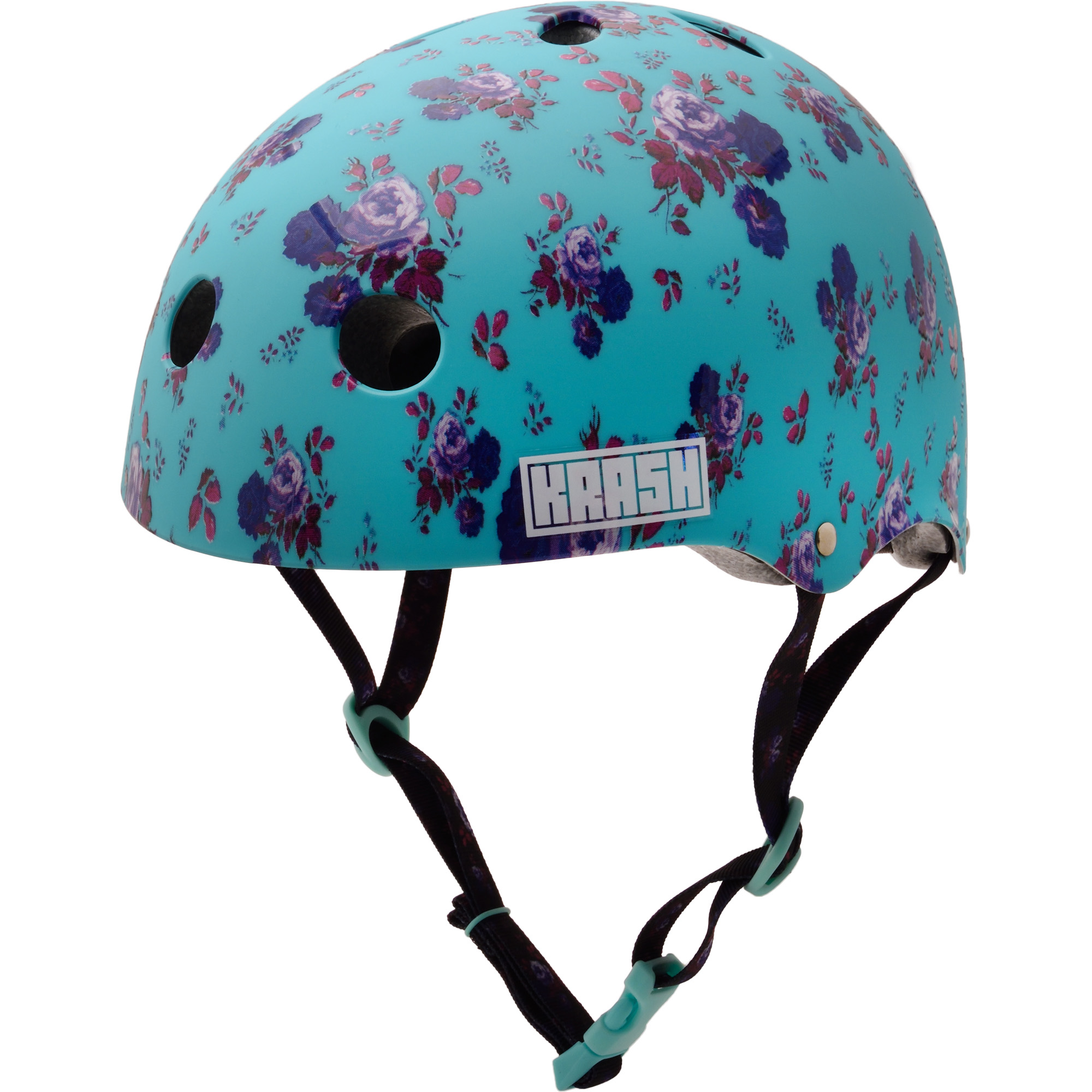 Krash Fierce Flower Youth Multisport Helmet Mint
