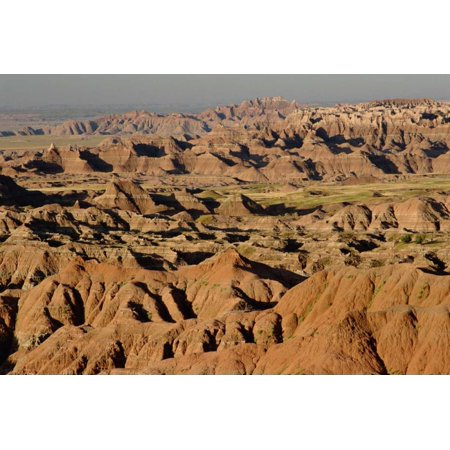 Vista of sedimentary rock in the Black Hills Badlands NP South Dakota Poster Print by Gerry Ellis