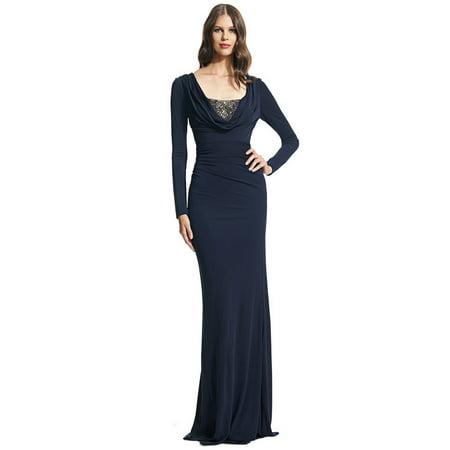 8911b1c9 David Meister - David Meister Long Sleeve Matte Jersey Beaded Evening Gown  Dress - Walmart.com
