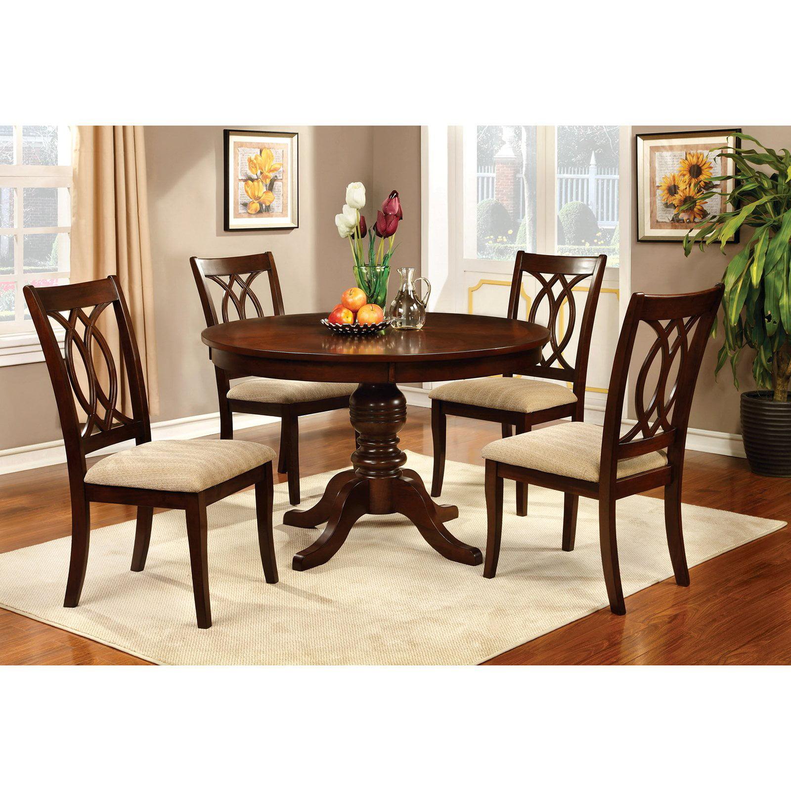 Brilliant Furniture Of America Frescina Round Dining Table Download Free Architecture Designs Rallybritishbridgeorg