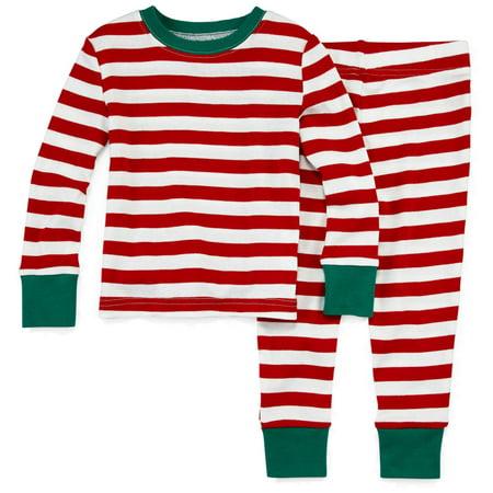 f47a6a74a North Pole - North Pole Infant & Toddler Boys Candy Cane Christmas  Sleepwear Pajama Set - Walmart.com