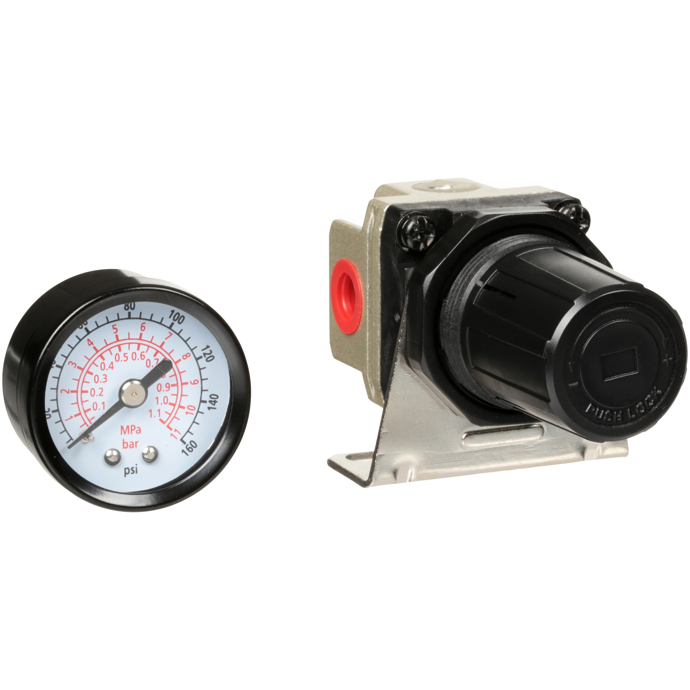Primefit® Mini Air Regulator with Gauge 1/4 in. Pack