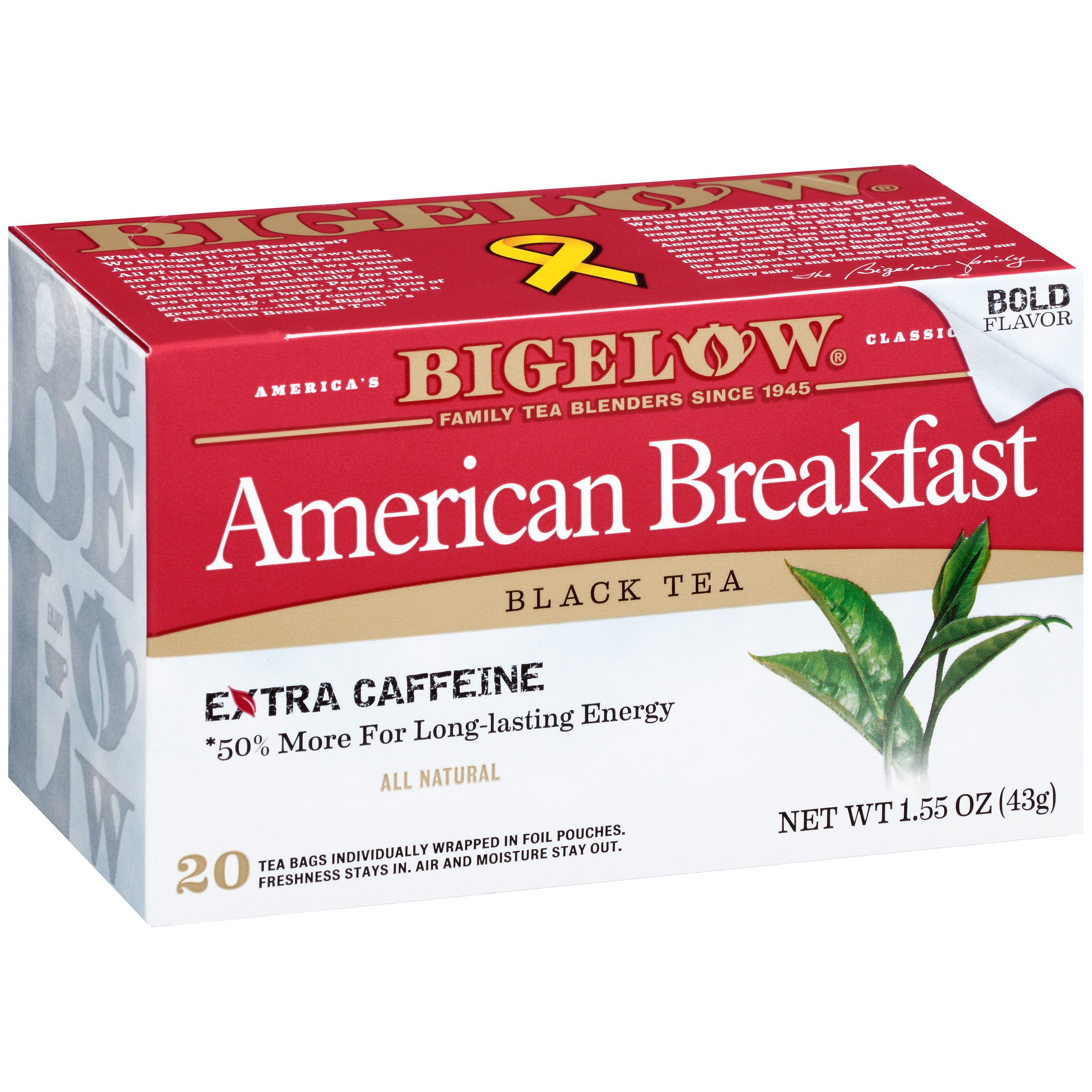 Bigelow® American Breakfast Black Tea Bags 20 ct Box