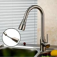 kitchen water faucet bronze product image pullout kitchen sink faucet one handle spout swivel faucets walmartcom