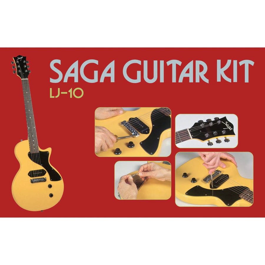 Saga LJ-10 Student Electric Guitar Kit, Single Cutaway