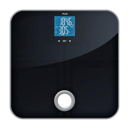 American Weigh Scales MSL-180 Mercury SL Black Glass Top Bathroom Scale