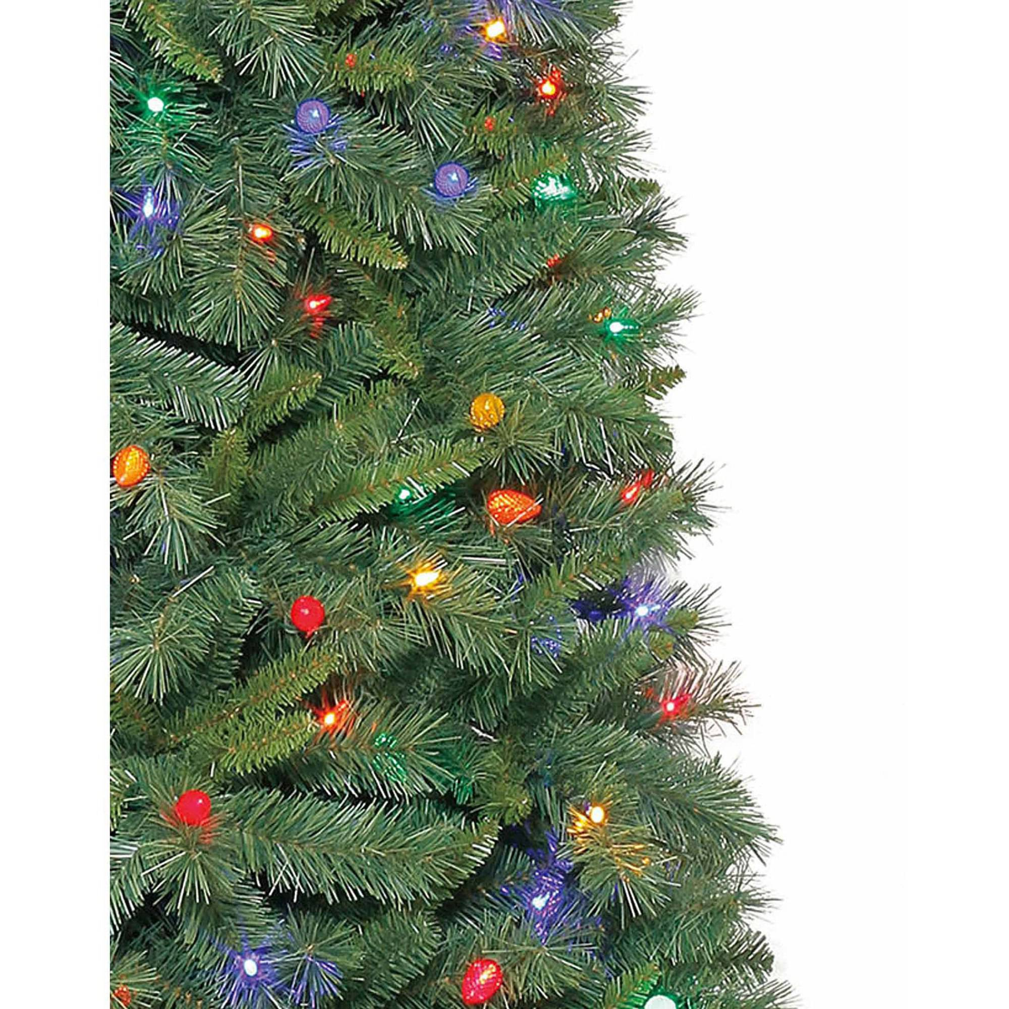 Holiday Time Pre-Lit 7.5\' Thompson Fir Artificial Christmas Tree ...