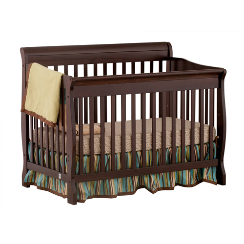 Storkcraft Modena 4-in-1 Fixed-Side Convertible Crib, Espresso