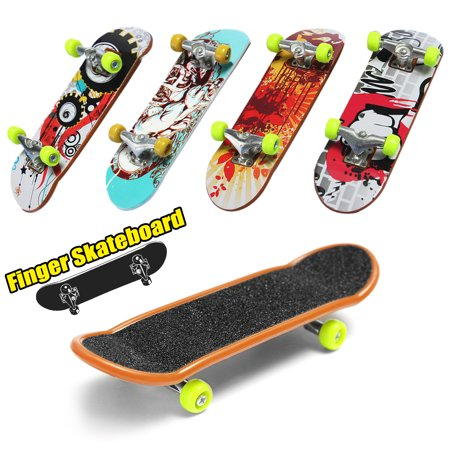 2Pcs Mini Fingerboards Finger board For finger skateboard Children Kids Birthday Gift Toy [Random Pattern] for $<!---->