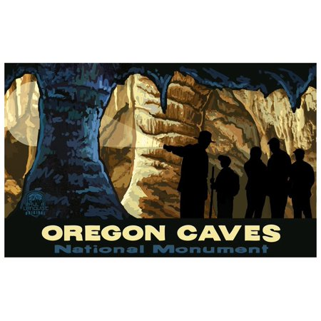 Oregon Caves National Monument Travel Art Print Poster by Paul A. Lanquist (12