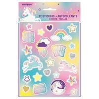 Unicorn Sticker Sheets, 4ct