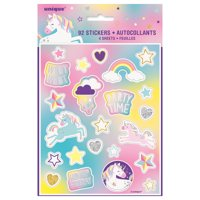Unicorn Sticker Sheets, 4ct